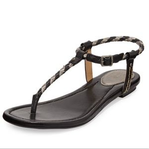 Frye Madison Braided leather thong sandals